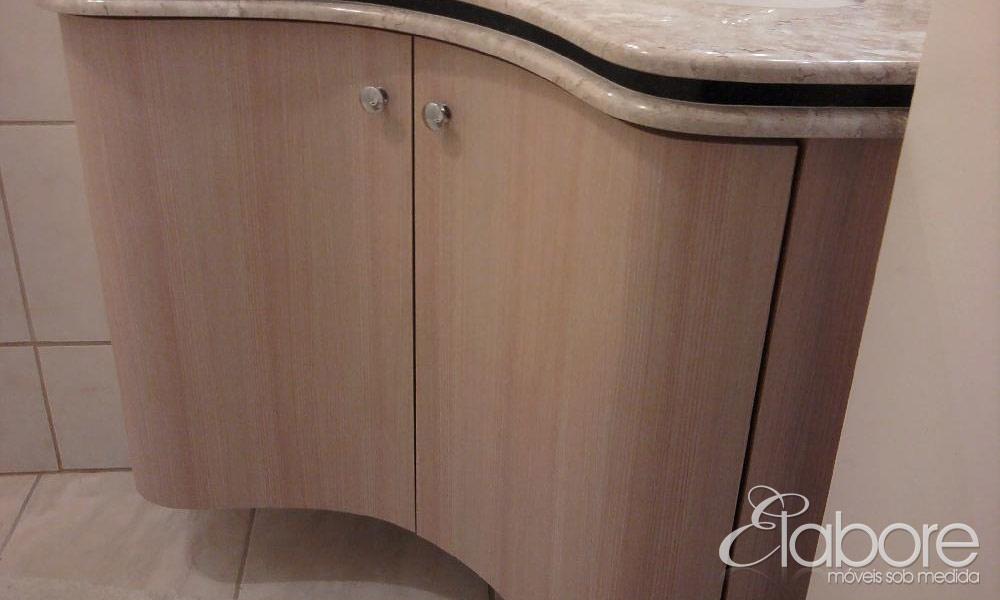 Armário Curvo  Elabore Móveis Sob Medida -> Armario De Banheiro Curvo